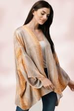 Oversized Kimono in Snakeskin Printed - 8