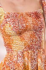 Smocked Ruffle Sleeves Romper Top - Ivory - Detail