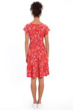 Abigail Short Sleeve V-Neck Tiered Babydoll Dress - Petite - 2