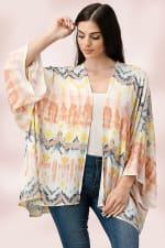 Oversized Multi Color Top Kimono - 3
