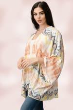 Oversized Multi Color Top Kimono - 4