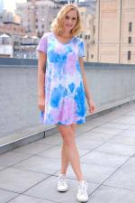 Violet Tie Dye V-Neck Dress - 4