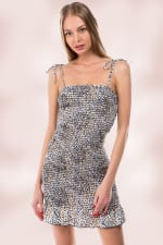 Animal Leopard All Over Smocking Tube Dress - 4