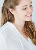 14K Gold Plated Star Stud Earrings - Gold - Back