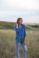 Embroidered Popover Blouse - 5