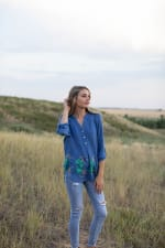 Embroidered Popover Blouse - 4