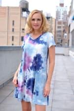 Magenta Tie Dye V-Neck Dress - 3