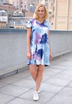 Magenta Tie Dye V-Neck Dress - 7