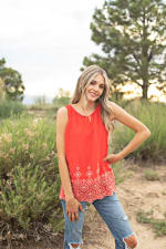 Westport Embroidered Blouse - 4