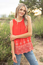 Westport Embroidered Blouse - 1