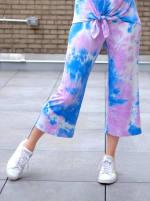 Violet Tie Dye Wide Leg Capri - 5