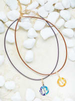 14K Gold Plated B Choker Charm Necklace - Gold - Back