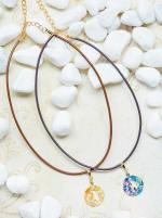 14K Gold Plated J Choker Charm Necklace - Gold - Back