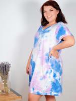 Violet Tie Dye V-Neck Dress - Plus - 3