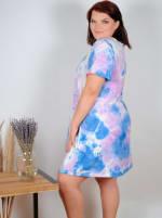 Violet Tie Dye V-Neck Dress - Plus - 7