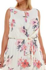 Floral Gauze Midi Dress - Plus - 2