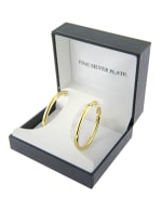 Boxed Fine Gold Over Silver Plated 39mm Hoops - 3