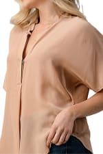 Kaii Silk Solid Dolman Sleeve Blouse Top - 3