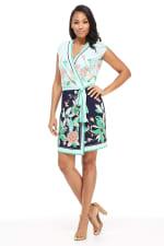 Angela Floral Print Wrap Dress - Petite - 3