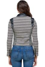Kaii Fabric Mix Jacquard Biker Jacket - 2
