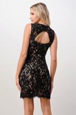 Kaii Two Tone Lace V-Neck Dress - 2