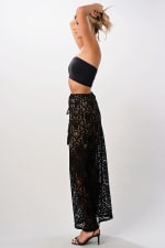 Kaii Lace Maxi Skirt With Cotton Core Bow - 2