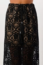 Kaii Lace Maxi Skirt With Cotton Core Bow - 1