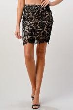 Kaii Lace Midi Skirt - 1