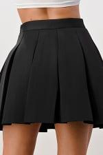 Kaii Pleated Mini Scuba Skirt - 3