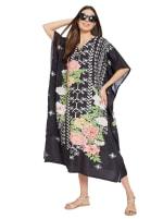 Black Kaftan Long Maxi Dress - Plus - 5