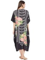 Black Kaftan Long Maxi Dress - Plus - 2