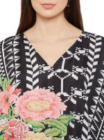 Black Kaftan Long Maxi Dress - Plus - 3