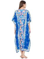 Royal Blue Kaftan Long Maxi Dress - Plus - 2