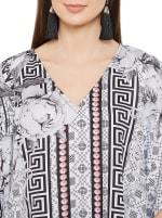 Black & Grey Kaftan Long Maxi Dress - Plus - 3