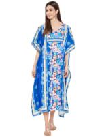 Royal Blue Kaftan Long Maxi Dress - Plus - 7