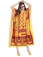 Yellow Kaftan Long Maxi Dress - Plus - 5