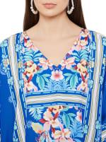 Royal Blue Kaftan Long Maxi Dress - Plus - 3