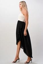 KAII Crystal Pleated High-Low Maxi Dress - 2