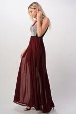 Kaii Contrast Lace Overlap Maxi Dress - 2
