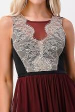 Kaii Contrast Lace Overlap Maxi Dress - 3