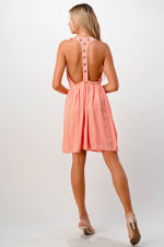Kaii Eyelet Detail Cami Dress - 1