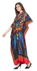 Blue Maxi Kaftan Dress - Plus - 5