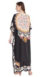 Black Wide Sleeve Maxi Kaftan Dress - Plus - 2