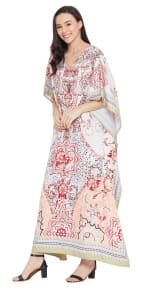 V-Neck Maxi Kaftan Dress - Plus - 6