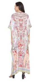 V-Neck Maxi Kaftan Dress - Plus - 2