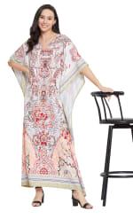 V-Neck Maxi Kaftan Dress - Plus - 7