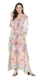 V-Neck Maxi Kaftan Dress - Plus - 8