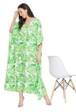 Green Maxi Kaftan Dress - Plus - 4