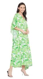 Green Maxi Kaftan Dress - Plus - 5