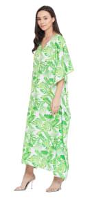 Green Maxi Kaftan Dress - Plus - 6